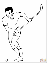 Magnificent Field Hockey Player Coloring Page With Pages And
