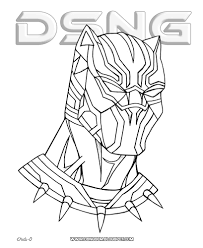 Attractive Marvel Black Panther Coloring Pages Crest