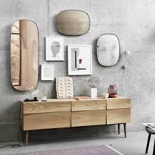 muuto framed mirror klein dunkelgrün klarglas