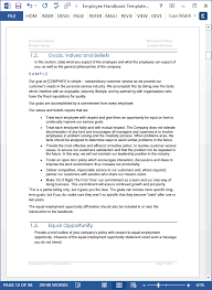 7 Employee Guidelines Template