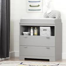 South Shore Furniture Dressers by South Shore Furniture Reevo 6 Drawer Double Dresser Soft Gray