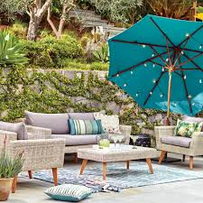 Threshold Patio Furniture Covers by All Weather Wicker Marina Del Ray Occasional Bench World Market