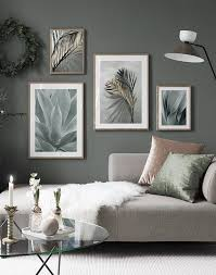 soft green gallery wall