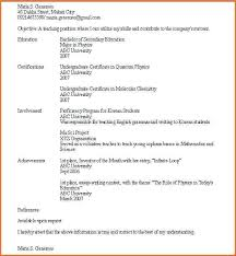 Resume Examples For Students With No Work Experience Australia A
