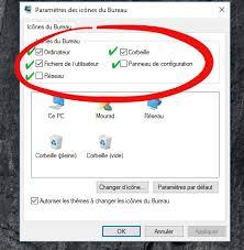 restaurer les icônes du bureau dans windows 7 8 ou 10