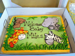 Jungle Safari Baby Shower Cake Baby Waller in 2018 Pinterest