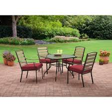 Red Patio Furniture Pinterest by Mainstays Bryant Meadows 5 Piece Dining Set Red Patio And Deck