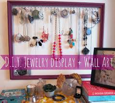 DIY Jewelry Holder From A Frame