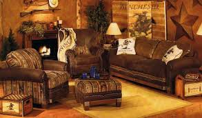 Furniture Rustic Living Room With Carpet And Brown Sofa Fireplace Wooden Floor