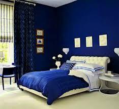 Inspiring Dark Blue And White Bedroom Ideas With Retro Interior