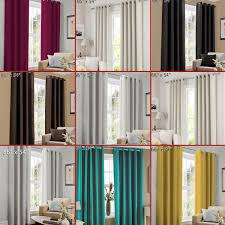 Faux Silk Eyelet Curtains by Faux Silk Eyelet Curtains Ring Top Fully Lined Plain Pair Of