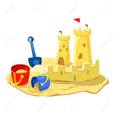 Sand Castle Beach Toys Isolated Stock Vector