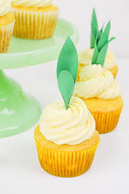 Pineapple Cupcake Recipe DIY Toppers