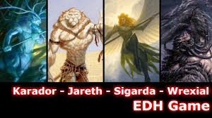 Ajani Mentor Of Heroes Deck List by Karador Vs Jareth Vs Sigarda Vs Wrexial Edh Cmdr Game Play For