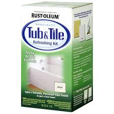 Bathtub Reglazing Pros And Cons by Rust Oleum Specialty 1 Qt Biscuit Tub And Tile Refinishing Kit