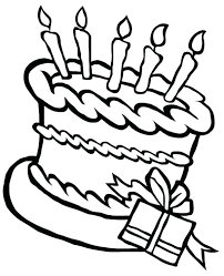 birthday cake color happy birthday cake and a present coloring page birthday cake bakeries colorado springs