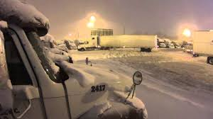 100 Truck Stops In Michigan 537 Truckers Worst Nightmare A Blizzard YouTube