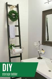 Home Ideas : Diy Bathroom Shelves Superb Diy Storage Ladder Daily ... Ideas Bath Countertop Vanity Countertops Towel Bathroom Corner Unit Diy Painted Sink Blesser House Tag Archived Of Outdoor Kitchen Depth Likable Temporary How To Make Wood That Look Insanely Expensive Must Cabinet Lighting Mirror Diy Small Modern Ten June Custom Grey Reclaimed Creative Decoration Modular Cabinets Hgtv Glacier Bay 201 Wwwmichelenailscom Vanities Unique Home Only Vessel Inches Depot Without Meas