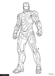 Marvel Superhero Iron Man Ready For Action Coloring