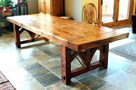 Rustic Dining Table Plans Room Woodworking Build Wood