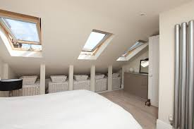 Under Eaves Storage Bedroom Eclectic With Linen