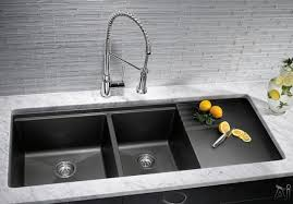 blanco 440411 48 inch undermount double bowl granite sink with 9 1