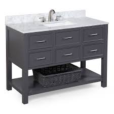 48 Cabinet With Drawers by New Hampshire 48 Inch Bathroom Vanity Carrara Charcoal Gray