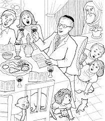 Jewish Passover Meal Coloring Page