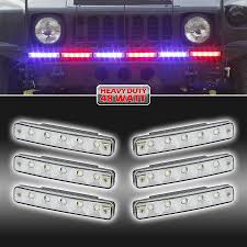 100 Strobe Light For Trucks 6X8Watt Waterproof High Power LED Off Road Vehicle