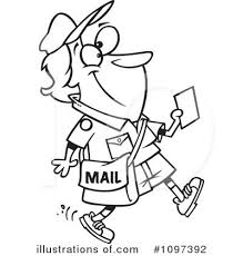 Royalty Free RF Mail Man Clipart Illustration by toonaday
