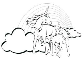 Unicorn Printable Coloring Pages Page Free Fancy Rainbow Flying Pr