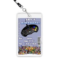 Video Game Truck Party CUSTOM VIP Players Pass Invitation LANYARD ... Video Game Party Invitations Gangcraftnet Invitation On K1069 The Polka Dot Press Monster Truck Birthday Ideas All Wording For Save Gamers Fun Birthdays Planning A 13yr Old Boys Todays Pitfire Pizza Make One Amazing Discount Unique Dump Festooning And Printable Orderecigsjuiceinfo Star Wars Signs New Designs Invitations Fancy Football