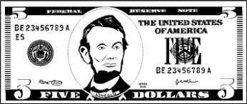 Best s of 5 Dollar Bill Template Printable Play Money