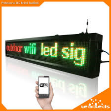 40inch Outdoor P10 Wifi Remote Control Led Sign Scrolling Advertising Message Display Board For Business