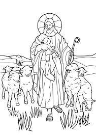 Good Shepherd Cute Jesus The Coloring Pages