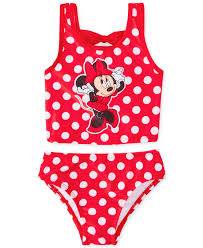 Dream Wave Toddler Girls 2 Piece Minnie Mouse Swimsuit Kids
