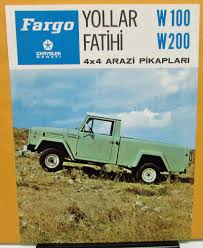 1973 Chrysler Sanayi Fargo Truck W100 200 Foreign Dealer Brochure ...