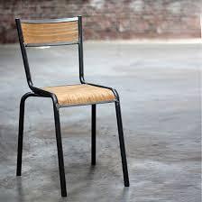 chaise d colier chaise d écolier en métal et bois naturel pilot cartel decoclico