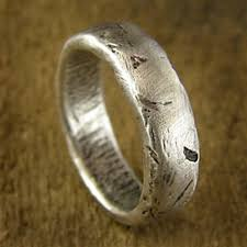 Rustic Mens Wedding Band