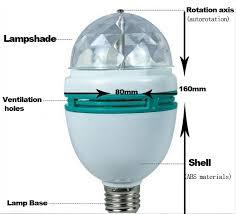 e27 3w rotate rgb led stage lights color rgb led mini