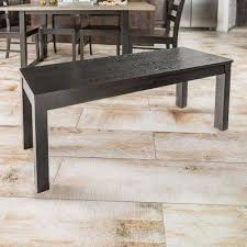 Homestead Black Solid Wood Dining Bench