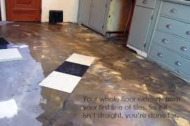 the kitchen floor finished laying vct tile the of doing