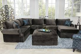 Jeromes Bedroom Sets by The Napa Chocolate Sectional Living Room Collection Mor