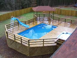 Ideas Deck Plans For Outdoor Design With Swimming Pool And