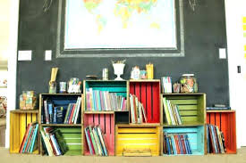 Diy Milk Crate Shelves Wood Bookcase Bookshelf