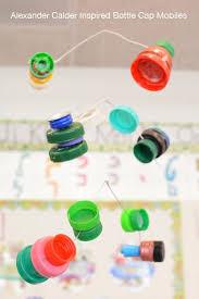 Calder Inspired Bottle Cap Mobiiles