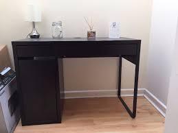 Ikea Micke Corner Desk by For Sale Ikea Micke Black Brown Desk With Faux Leather Black