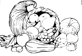 Fruits & Ve ables clipart line drawing 1