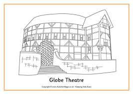 Globe Theatre Colouring Page