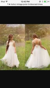 Can t help but smile about this boho flower girl dress The sweet